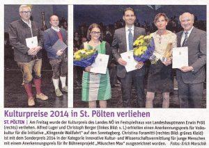Kulturpreisverleihung in St. Pölten 2014